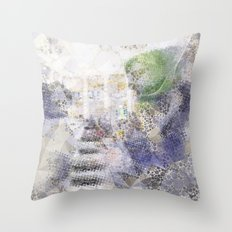 GREEN PIANOFORTE Throw Pillow