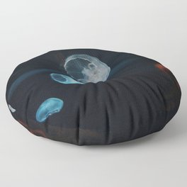 Jellyfish Cells (Color) Floor Pillow