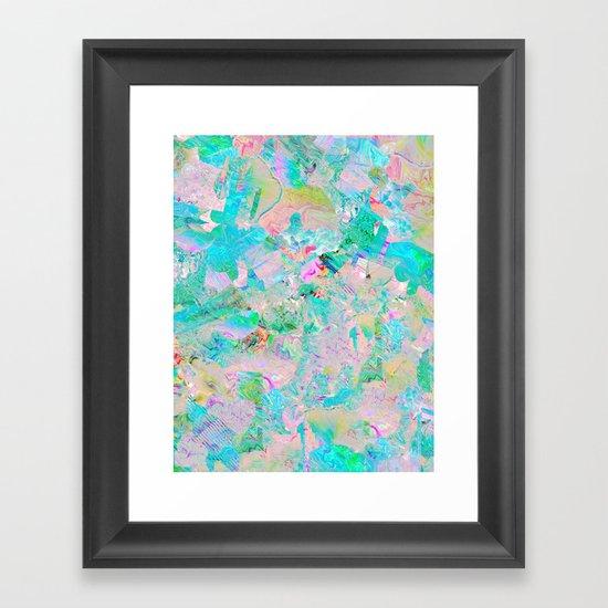 Candied Marble Framed Art Print
