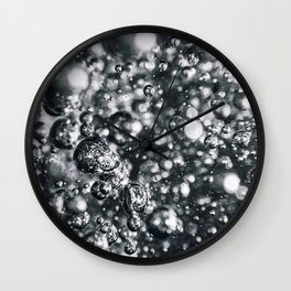 Underwater bubbles. Air bubbles in water. Wall Clock