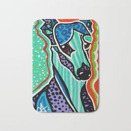 Willy Whippet Greyhound Saluki Italian Pharaoh Silken Manchester Fox Ibizan Designer Dog Puppy Pet Bath Mat