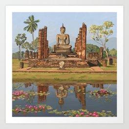 Sukhothai Buddha Art Print