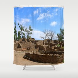 Aztec Ruins New Mexico Shower Curtain