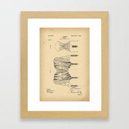 1902 Patent Corset Framed Art Print