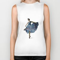 ballerina Biker Tanks featuring Ballerina  by Kelly Baskin
