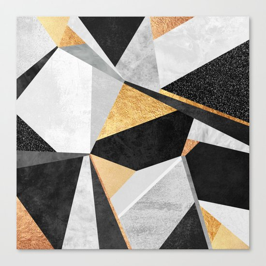 Geometry / Gold Canvas Print