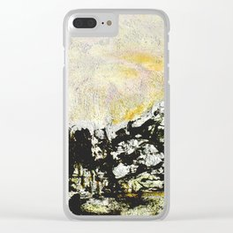 Golden mountains Clear iPhone Case