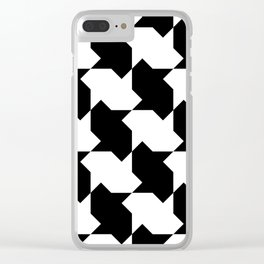 BW Tessellation 4 2 Clear iPhone Case