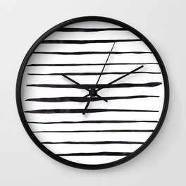 Black Ink Linear Experiment Wall Clock