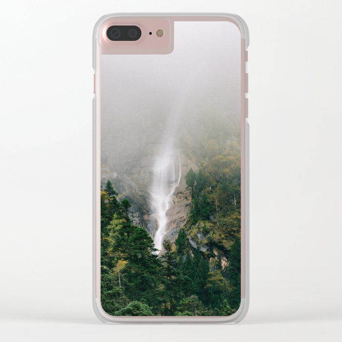 Misty Mountain Morning Clear iPhone Case