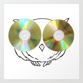CD Owl Art Print