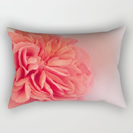 A Touch of Love - Pink Rose #2 #art #society6 Rectangular Pillow