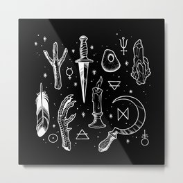 Accoutrements BLACK Metal Print