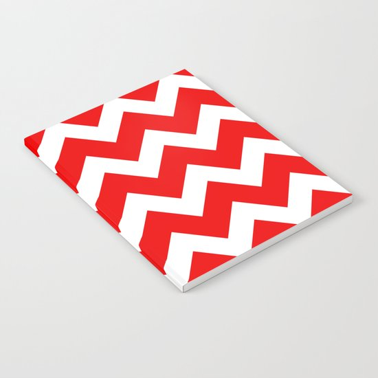 Chevron Red White Notebook