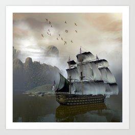 Old Sail Ship Art Print
