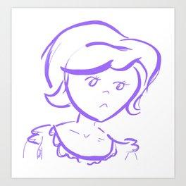 Downcast In Violet Art Print