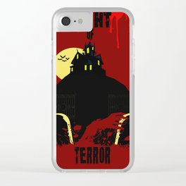 Night Of Terror Clear iPhone Case