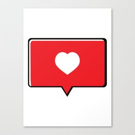 Heart Bubble text Canvas Print