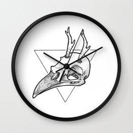 Antler Bird Wall Clock