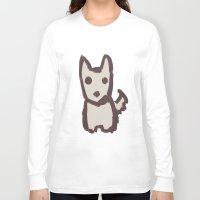 schnauzer Long Sleeve T-shirts featuring Schnauzer by Alayna's Stuff