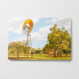 Windmills are gold in the Outback! Metal Print