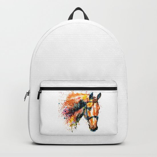 Colorful Horse Head Backpack