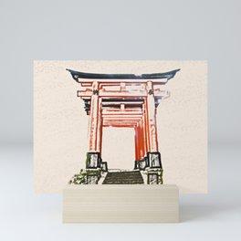ArtWork Fushimi Inari Art Painting Kyoto Japan Mini Art Print