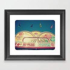 CandyLand ~ vintage-feel carnival Framed Art Print