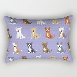 American PIT BULL TERRIERS Rectangular Pillow