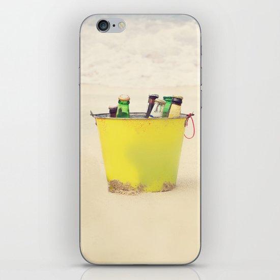 Bucket of Beer on the Beach iPhone & iPod Skin