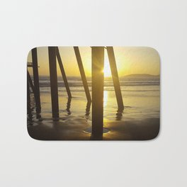 Pismo Beach Pier in the Sunset Bath Mat