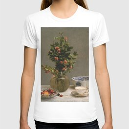 Henri Fantin Latour - Still Life With Vase Of Hawthorn T-shirt