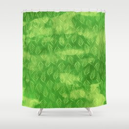 Dappled Light in a Ferny Forest Shower Curtain