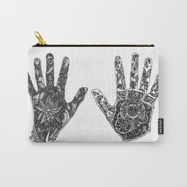 Hands of Contrast Carry-All Pouch