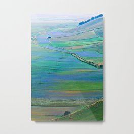 Plain of Castelluccio seen from above Metal Print