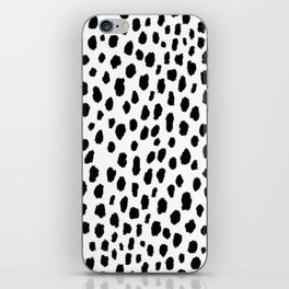 Dalmatian Spots (black/white) iPhone Skin