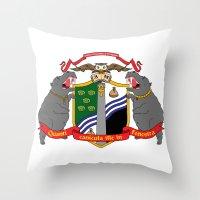 discworld Throw Pillows featuring Ankh-Morpork Flag by Waffle Guru