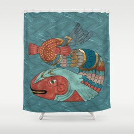 Fish Folk Shower Curtain