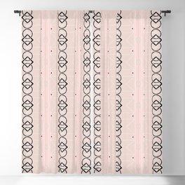 Art Deco - Neutral Pink Blackout Curtain