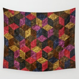 Colorful Isometric Cubes III Wall Tapestry
