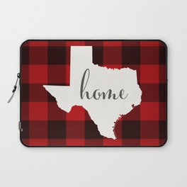 Texas is Home - Buffalo Check Plaid Laptop Sleeve