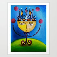 Little King as Juggler Art Print