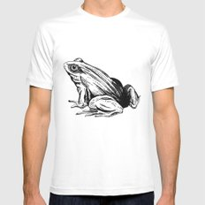Frog White MEDIUM Mens Fitted Tee