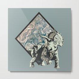 jupiter dinosaur triceratop Metal Print