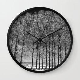 Winter road II Wall Clock