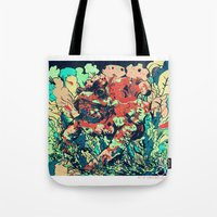 camo Tote Bags featuring CAMO by NimbusBlack