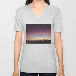 Cardiff Sunset Unisex V-Neck