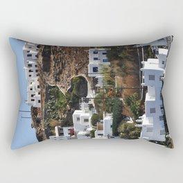 Mykonos Hillside Rectangular Pillow