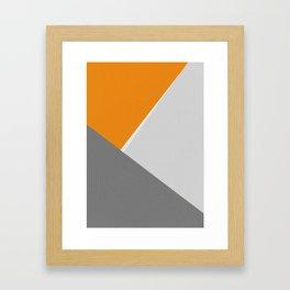 Orange And Gray Framed Art Print