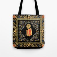 versace Tote Bags featuring Versace Classic by Goldflakes